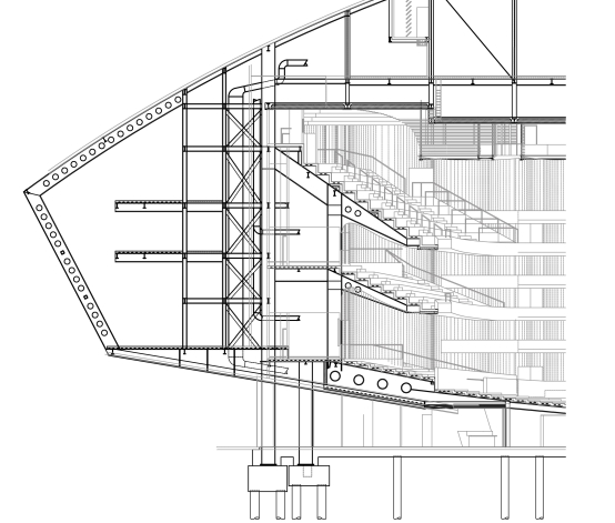 Architecture Details besides Camilla Rprado tumblr as well 5264b561e8e44ef4c200021d Ad Classics Walt Disney Concert Hall Frank Gehry Garden Level Plan likewise Villa Savoye additionally Serpentine Gallery. on oscar niemeyer section drawings