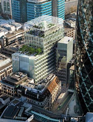 The building occupies a prestigious City of London site