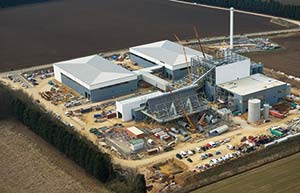 The energy centre takes shape in the Lincolnshire countryside