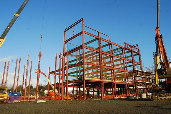 A bespoke steel frame will allow the client to get maximum flexibility from the building