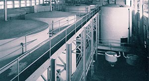 Racking and storage vessels. The brewery is designed for the production of 15,000 barrels of stout per year.