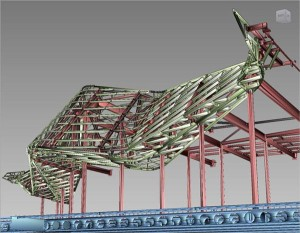 3D modelling has proven to be crucial in the design and erection of the Wave