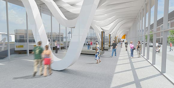 How the new bus station will look