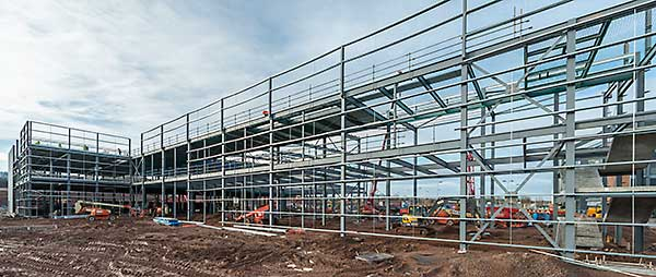 Steel construction has played a pivotal role on the entire Longbridge redevelopment
