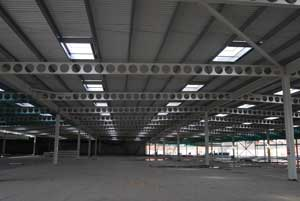 Cellular beams form the car park
