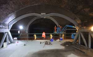 Existing arches have been strengthened with steelwork