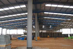 Portal frames are ideal for retail units