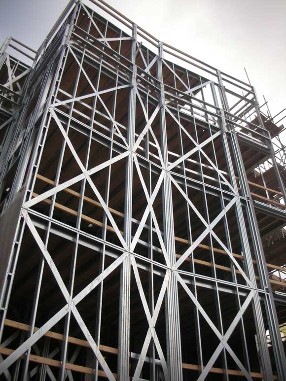 Braced multi-storey light steel frame
