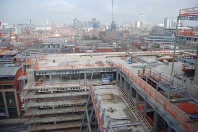 Level nine's sky garden overlooks Leeds city centre