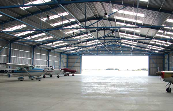 The hangar is already in use