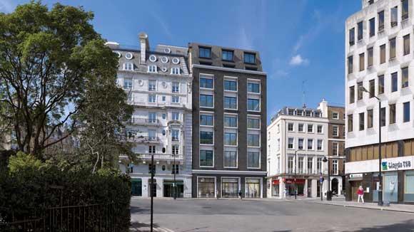 The new Hanover Square façade