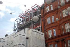 The sixth floor roof garden will overlook Oxford Street