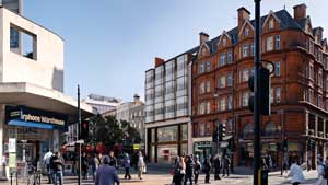 The completed Oxford Street elevation