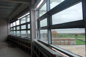 Classrooms have views across the River Dee