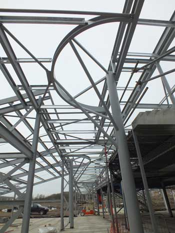The school's atrium takes shape