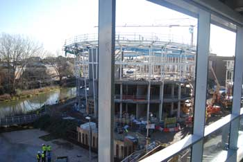 View of the cinema and River Chelmer from the John Lewis store