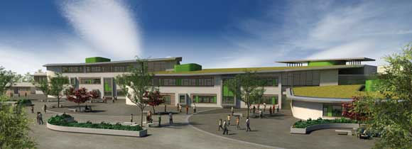 Visualisation of the completed campus