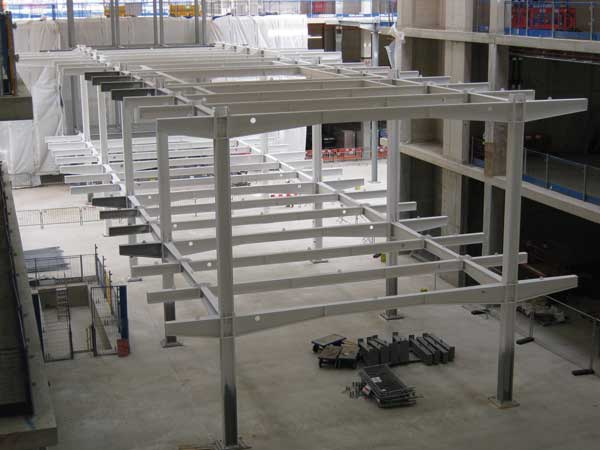 One of the internal mezzanine structures