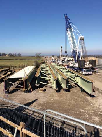 Kneeton Lane Overbridge being installed