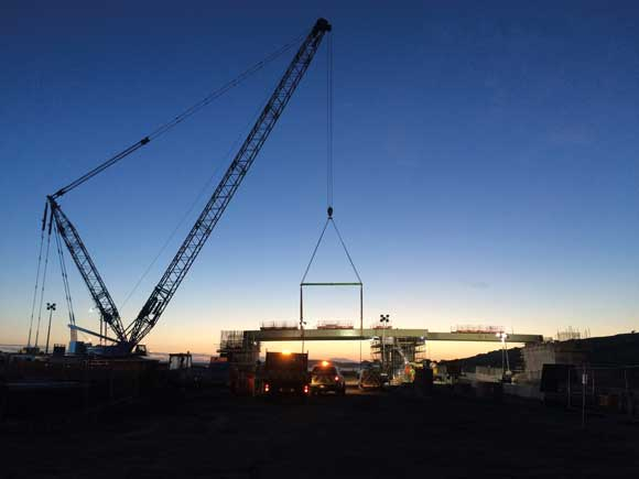 Jamestown delivers components for infrastructure projects