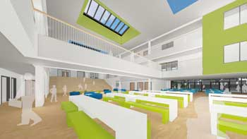 Interior visualisation of the new school