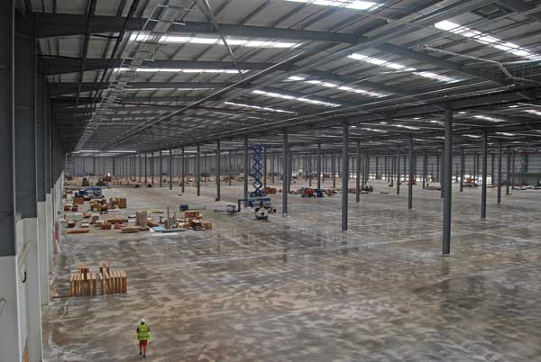 Large open spans were an important consideration for Amazon