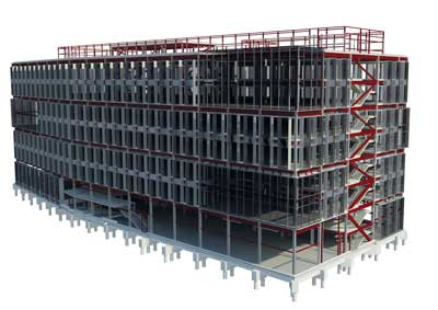 Steel frame model