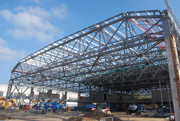 The roof trusses have all been refurbished