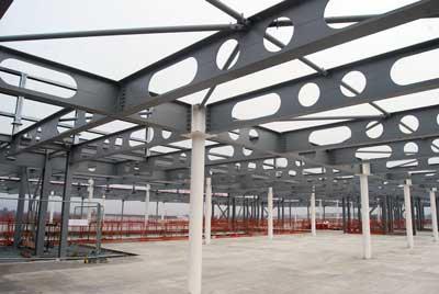 Cellular beams have been used throughout for service integration