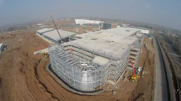 The galvanized M&S car park required 1,200t of steel