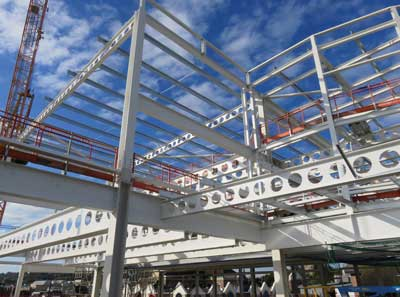 Westok cellular beams have been used throughout to create long spans