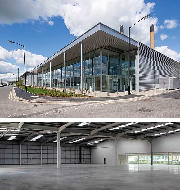 SEGRO warehouse and office building deconstructed and relocated on the Slough Trading estate in 2015
