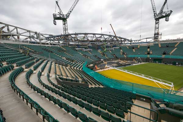 Steel Roof Taking Shape Over Wimbledon No 1 Court