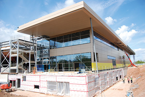 Steelwork creating university sports legacy for University of warwick swimming pool