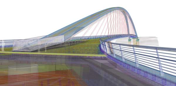 Tekla bridge software extension spans complete design