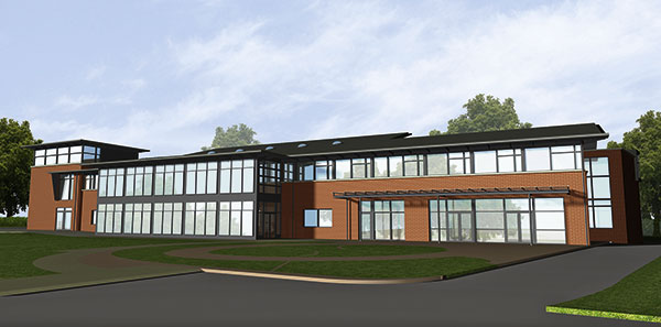 Steel completes healthy community frame