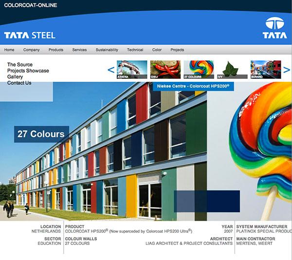 Colorcoat brightens web