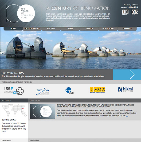 A century of stainless steel celebrated with website