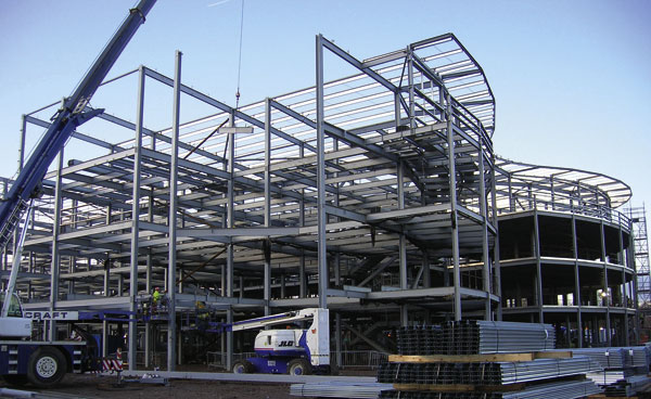 Steelwork completed at Salford hospital
