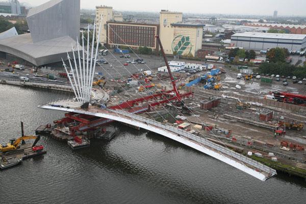 Media City bridge slid into place