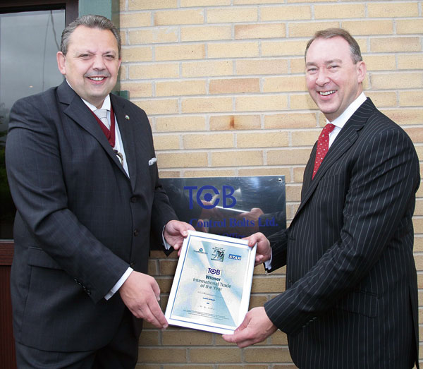 Exporting accolade for bolt manufacturer
