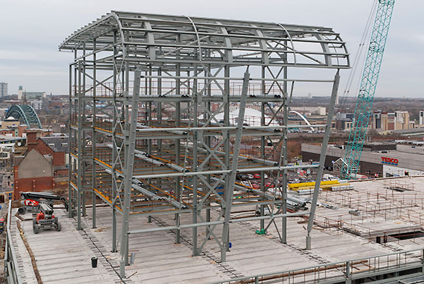 Steelwork creates a new town centre for Gateshead