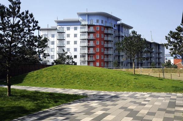Major residential scheme framed in steel