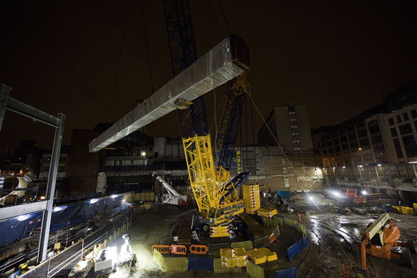 New London rail interchange takes shape