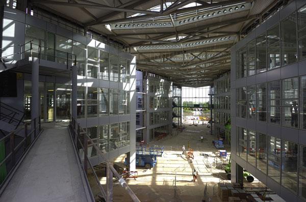Steel atrium knits together Network Rail headquarters
