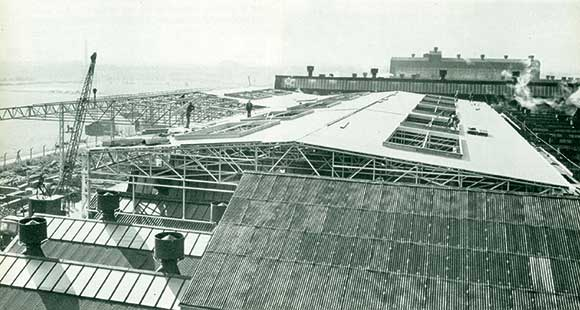 50 Years Ago: Building a new factory over an existing one