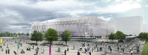Olympic Basketball Arena gets a lift