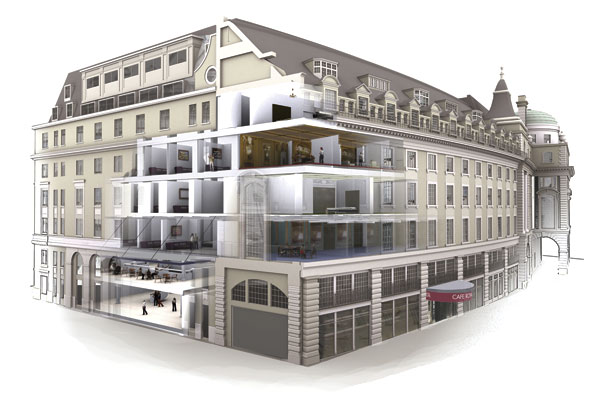 Steel opens up historic London building