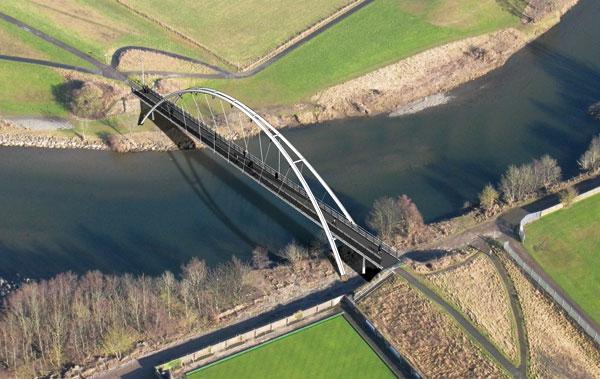 Bridge works for flood damaged Cumbrian town