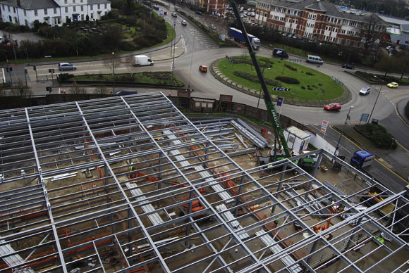 History centre takes shape with steel